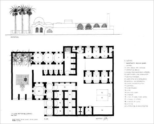 Plan der Keramikfabrik in Garagos, Qena, (c) Aga Khan Trust for Culture