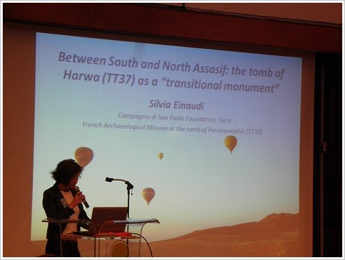 South Asasif Conservation Project Conference - Silvia Einaudi