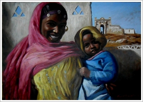 Farid Fadel: Mother and Child, Nubia. 2010