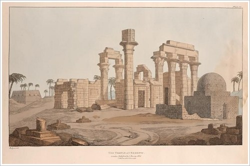Giovanni Battista Belzoni: The temple at Erments, 1820