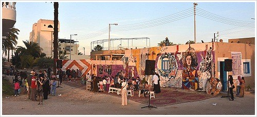 Kunstprojekts ART From People To People, Luxor Westbank, (c) ART From People To People